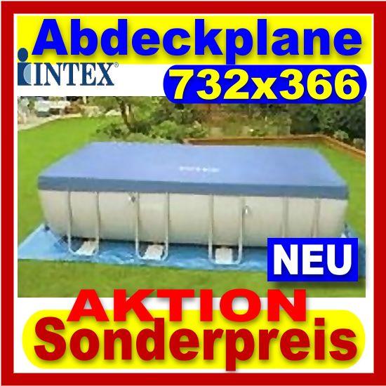 intex abdeckplane 732 f r ultra frame pools neu ebay. Black Bedroom Furniture Sets. Home Design Ideas