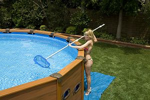 intex wood grain frame pool 508 x 124 cm schwimmbecken ebay. Black Bedroom Furniture Sets. Home Design Ideas