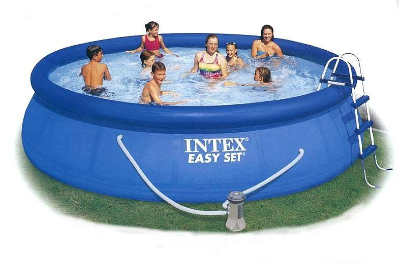 intex piscina easy set 457 x 122 bomba masaje completa top ebay. Black Bedroom Furniture Sets. Home Design Ideas