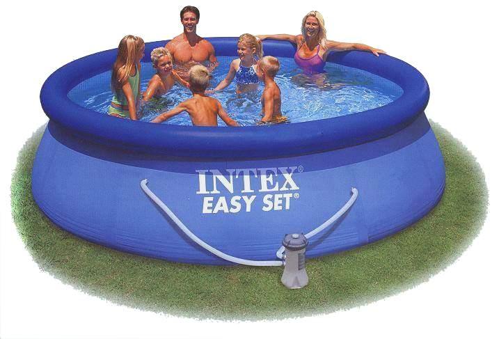 intex easy set 366 x 91 cm swimming pool wasser wer weiss. Black Bedroom Furniture Sets. Home Design Ideas