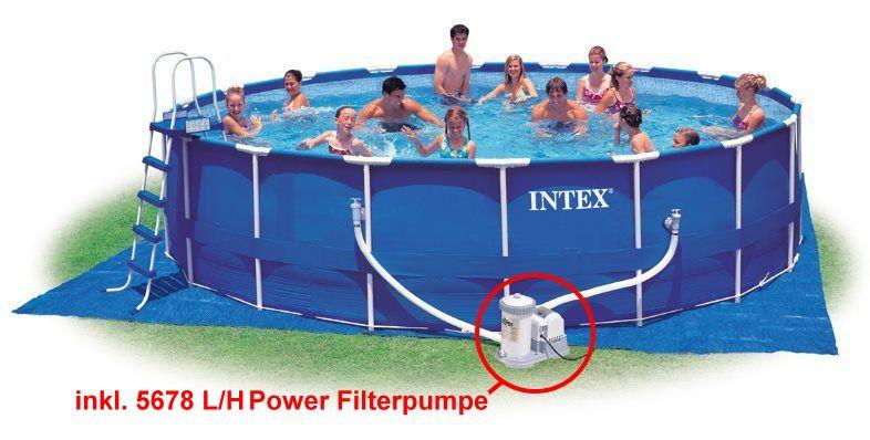Intex stahlbecken pool set 549 x 122 cm schwimmbecken ebay for Stahlbecken rund