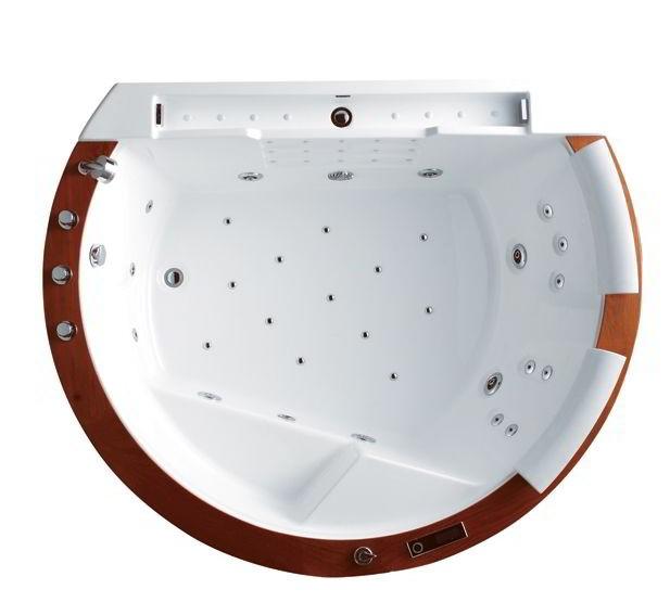 exclusiv halbrunde luxus badewanne whirlwanne whirlpool. Black Bedroom Furniture Sets. Home Design Ideas