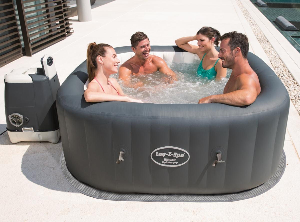 bestway hydrojet whirlpool lay z spa hawaii 180x180x71cm. Black Bedroom Furniture Sets. Home Design Ideas