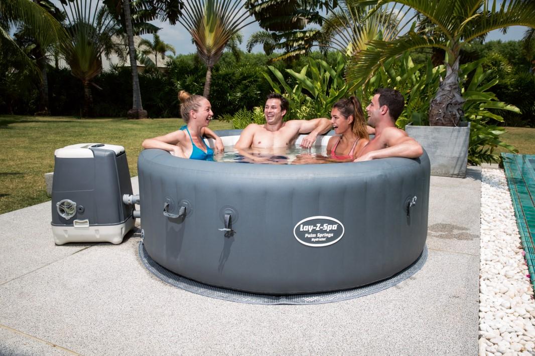 bestway hydrojet whirlpool lay z spa palm springs 196x71 54144 ebay. Black Bedroom Furniture Sets. Home Design Ideas