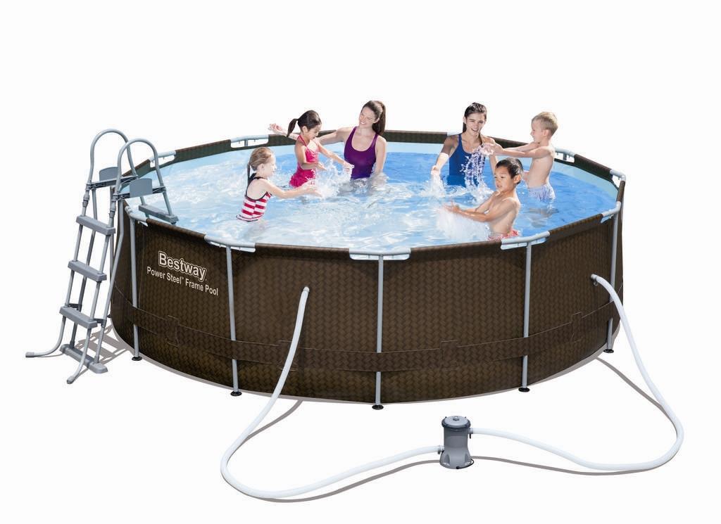 Bestway steel pro pool set 366x100 rattan 56379 ebay for Bestway pool ersatzteile