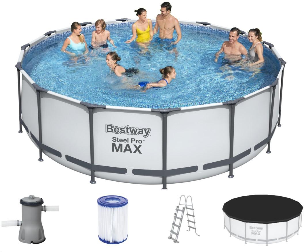 Bestway steel pro pool set 457x122 56438 for Bestway pool ersatzteile