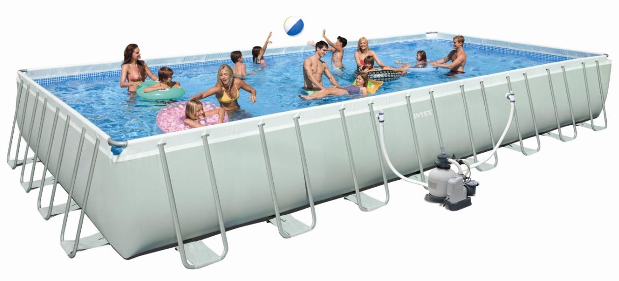 Intex swimming pool ultra frame megaset 975x488x132 for Swimmingpool aufstellbecken