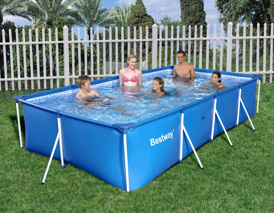 bestway family splash frame pool 400x211x81cm 56405 ebay. Black Bedroom Furniture Sets. Home Design Ideas