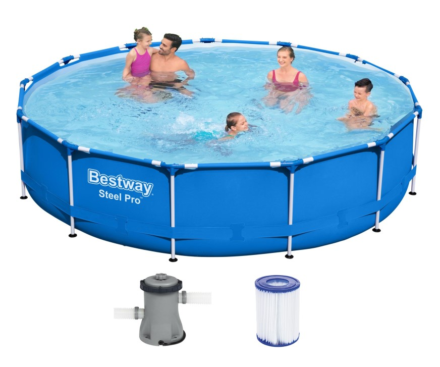 Bestway Steel Pro Frame Pool 396x84cm + Pumpe 5612E