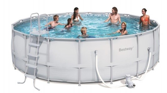 bestway steel pro pool set 549x132 56232 ebay. Black Bedroom Furniture Sets. Home Design Ideas