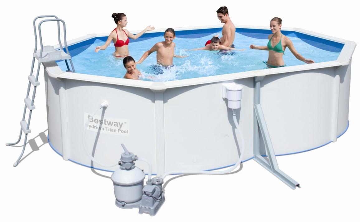 bestway stahlwandpool set titan 488x366x122 sandfilter 56286. Black Bedroom Furniture Sets. Home Design Ideas