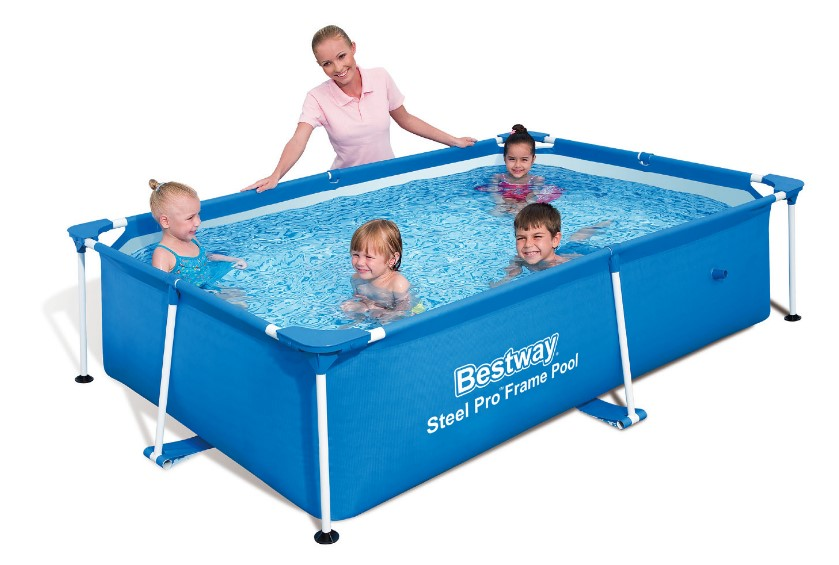 Bestway splash frame pool 239x150x58cm 56402 for Pool aufblasbar mit pumpe
