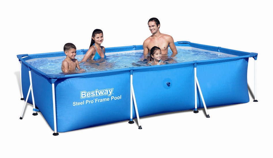bestway deluxe splash frame pool 300x201x66cm 56404 ebay. Black Bedroom Furniture Sets. Home Design Ideas