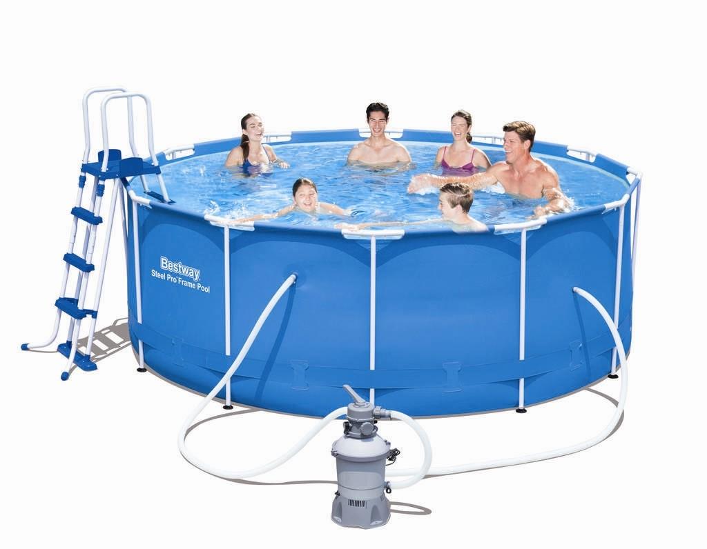 Bestway steel pro frame pool 366x122 mit sandfilteranlage - Bestway pool mit sandfilteranlage ...