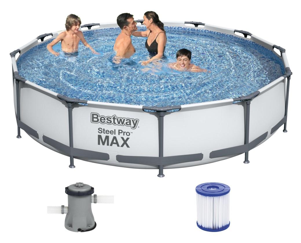 Bestway Steel Pro MAX Frame Pool 366x76cm+Pumpe 56416