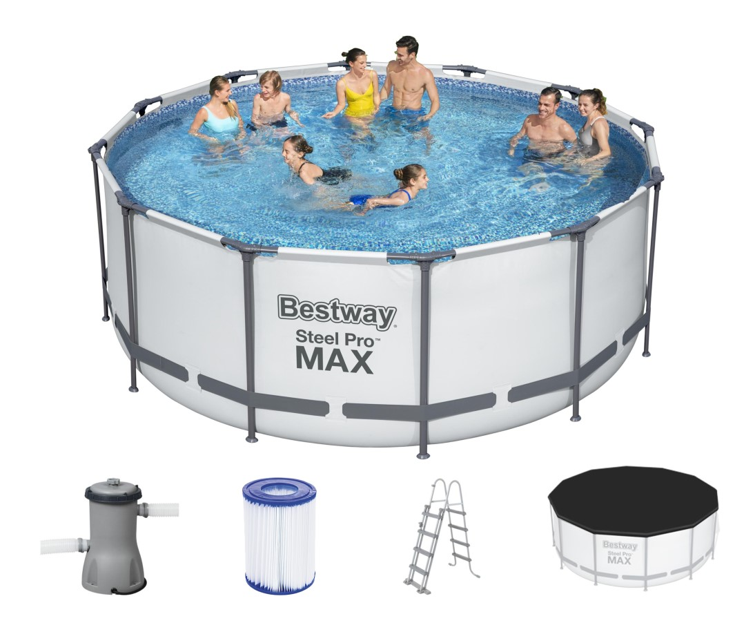 bestway steel pro frame pool 366x122 komplettset 56420 gs. Black Bedroom Furniture Sets. Home Design Ideas