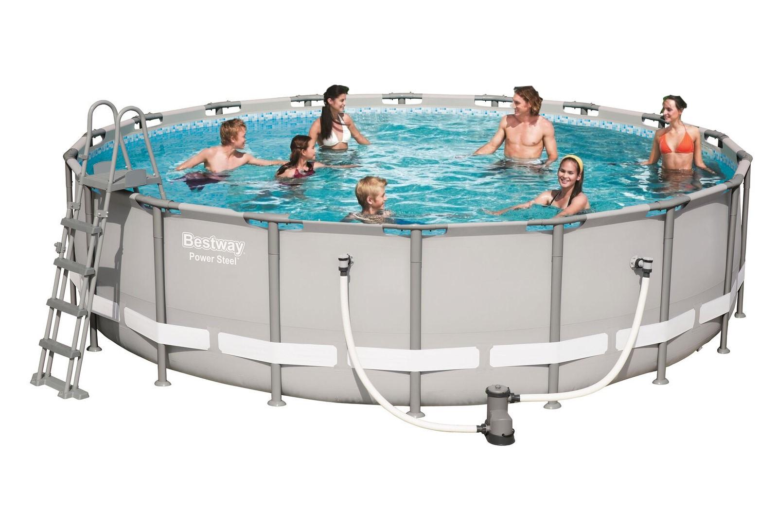 Bestway steel pro pool set 549x132 56427 ebay for Bestway pool ersatzteile