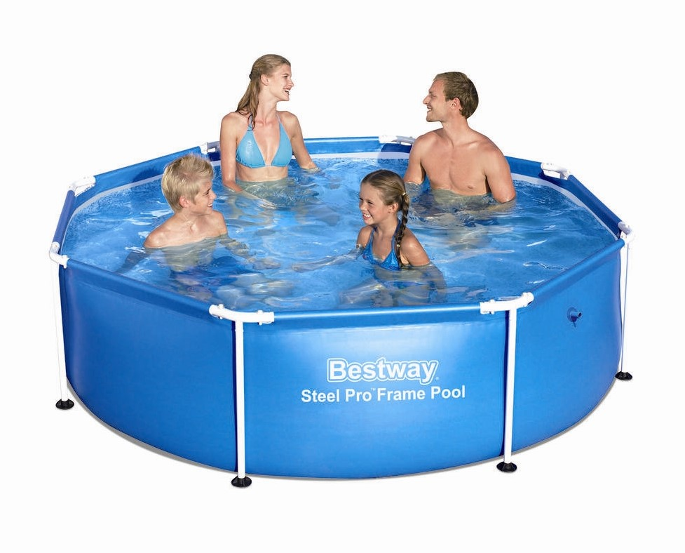 bestway steel pro frame pool 244x61cm 56431 6942138929300 ebay. Black Bedroom Furniture Sets. Home Design Ideas