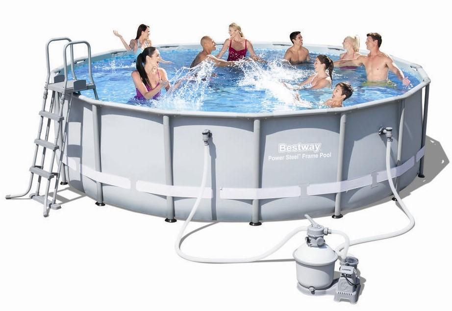 Bestway Steel Pro Pool Set 488x122 mit Sandfilter 56452