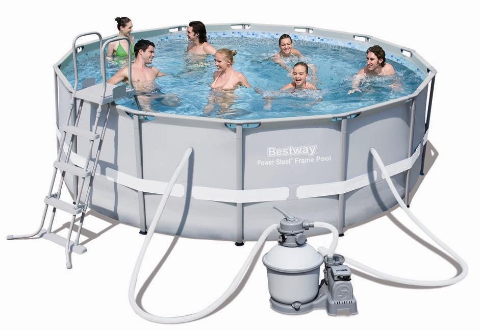 bestway steel pro pool set 427x122 mit sandfilter 56478. Black Bedroom Furniture Sets. Home Design Ideas