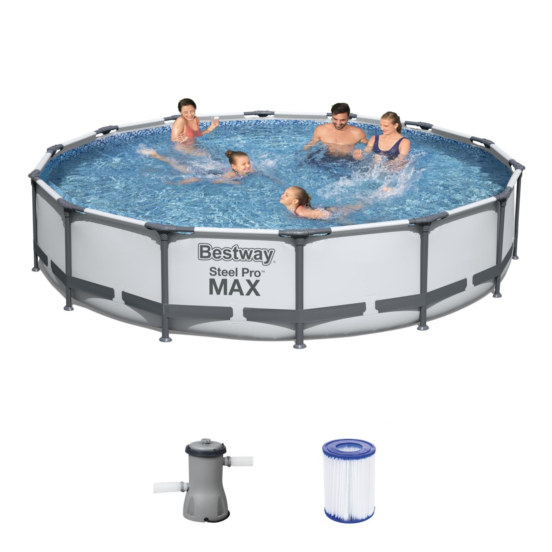 Bestway Metal Frame Pool Komplett Set 427x84 56595