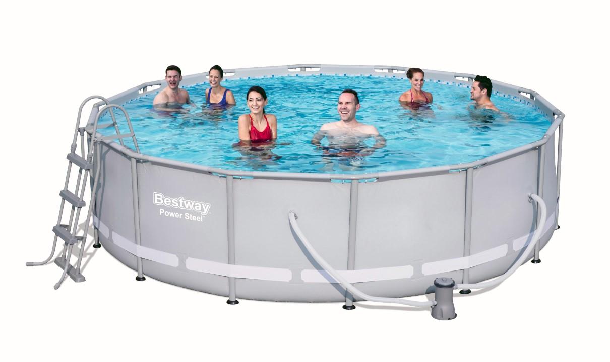 bestway swimmingpool steel pro pool set 427x107 56641 ebay On bestway pool ersatzteile