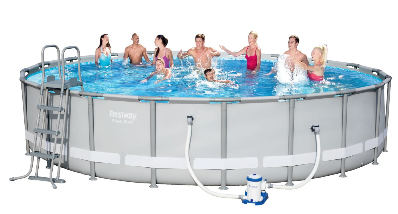 Bestway steel pro pool set 610x122 56675 ebay for Bestway pool ersatzteile