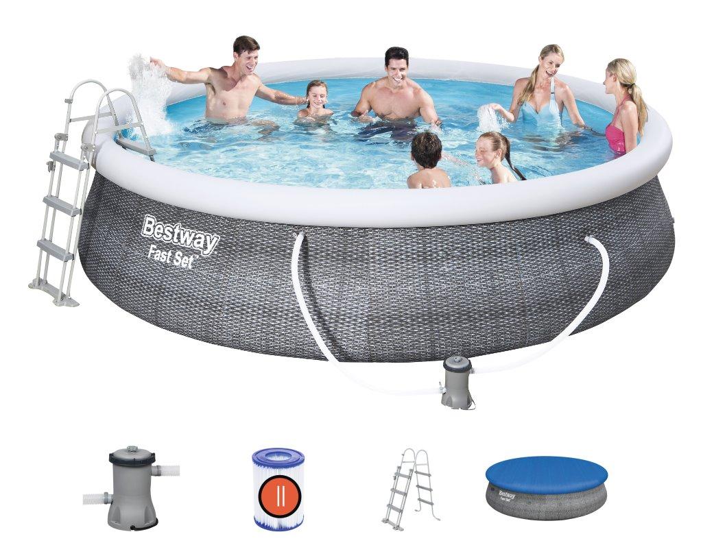 Bestway Fast Set Pool Komplett Set 457x107 Rattan 57372