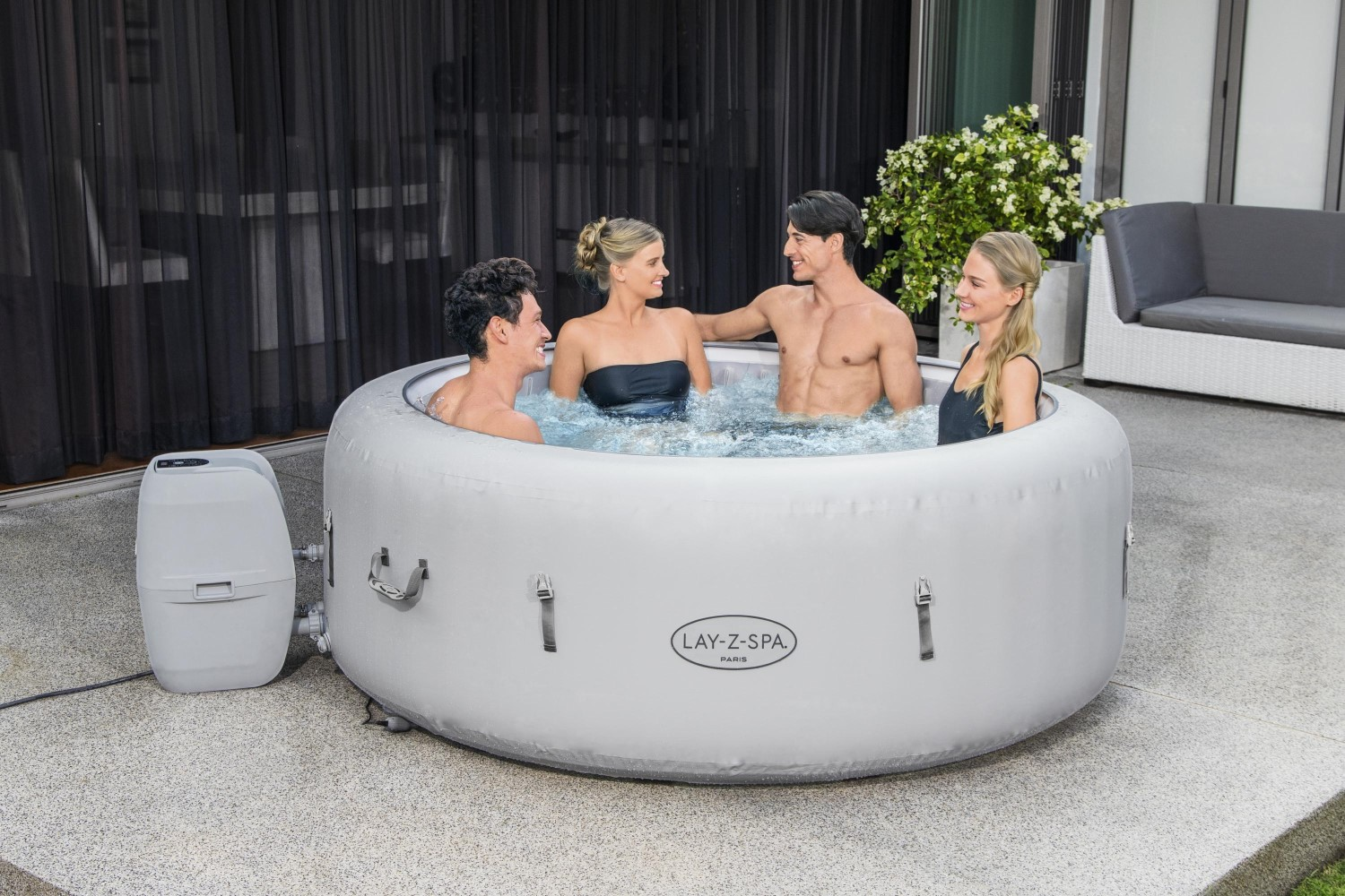 Bestway Whirlpool Lay-Z-SPA Paris beleuchtet 60013