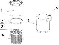 Ersatzkorb + Korbset komplett für Intex Oberflächenskimmer 11075