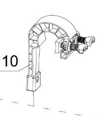 Haltebügel für Intex Oberflächenskimmer 11502