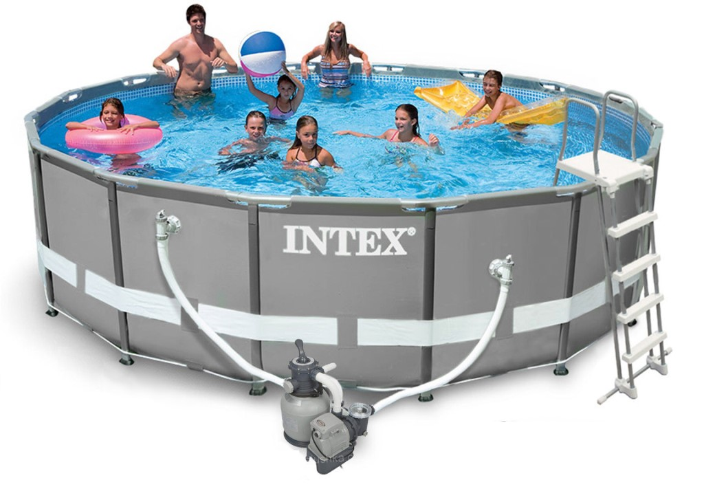 intex ultra frame pool komplett set 488x122 sandfilter 28324 ebay. Black Bedroom Furniture Sets. Home Design Ideas
