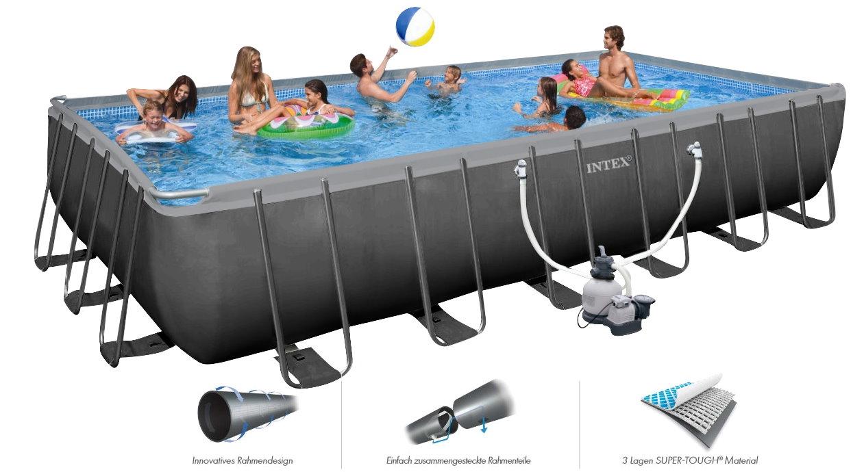 INTEX Swimming Pool Ultra XTR Frame 732x366x132cm 26364 B-Ware