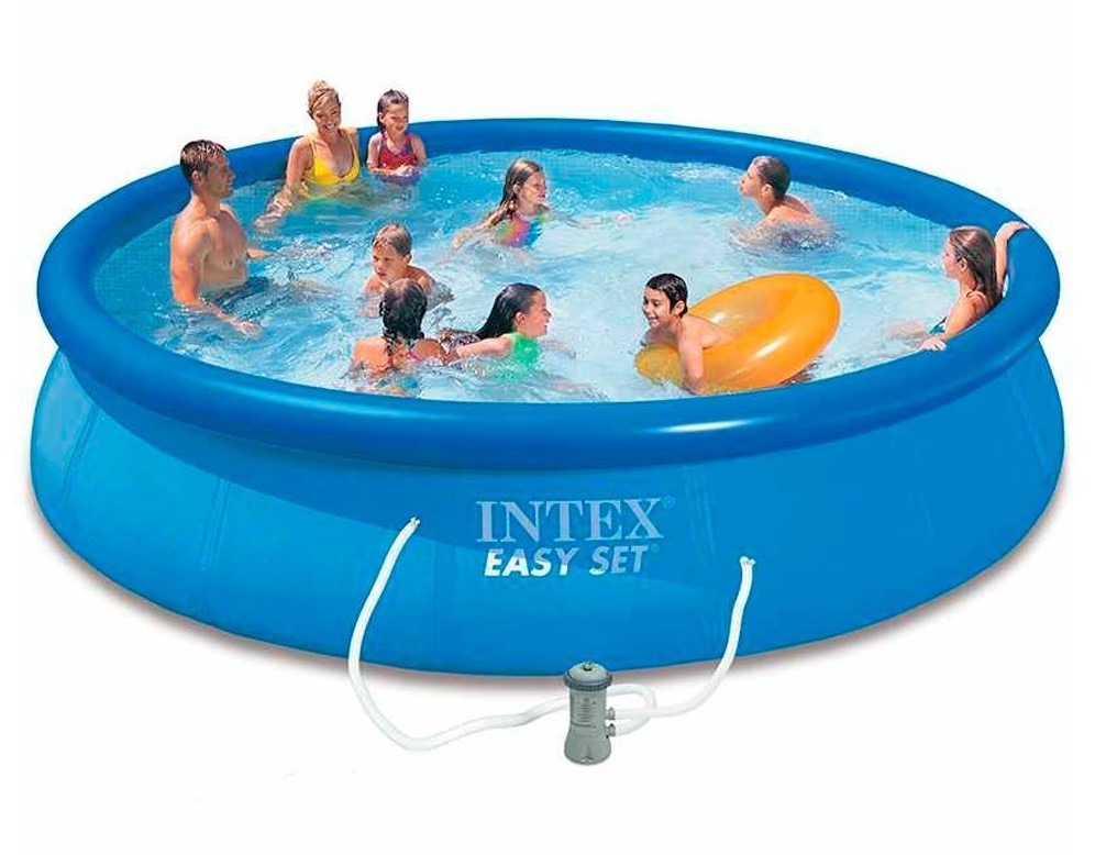Intex swimming pool easy set 457x84 28158 for Aufstellbecken pool