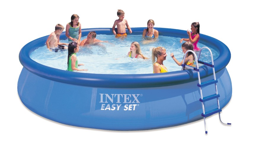 intex swimming pool easy set 457x107 komplettset 28166 gs. Black Bedroom Furniture Sets. Home Design Ideas