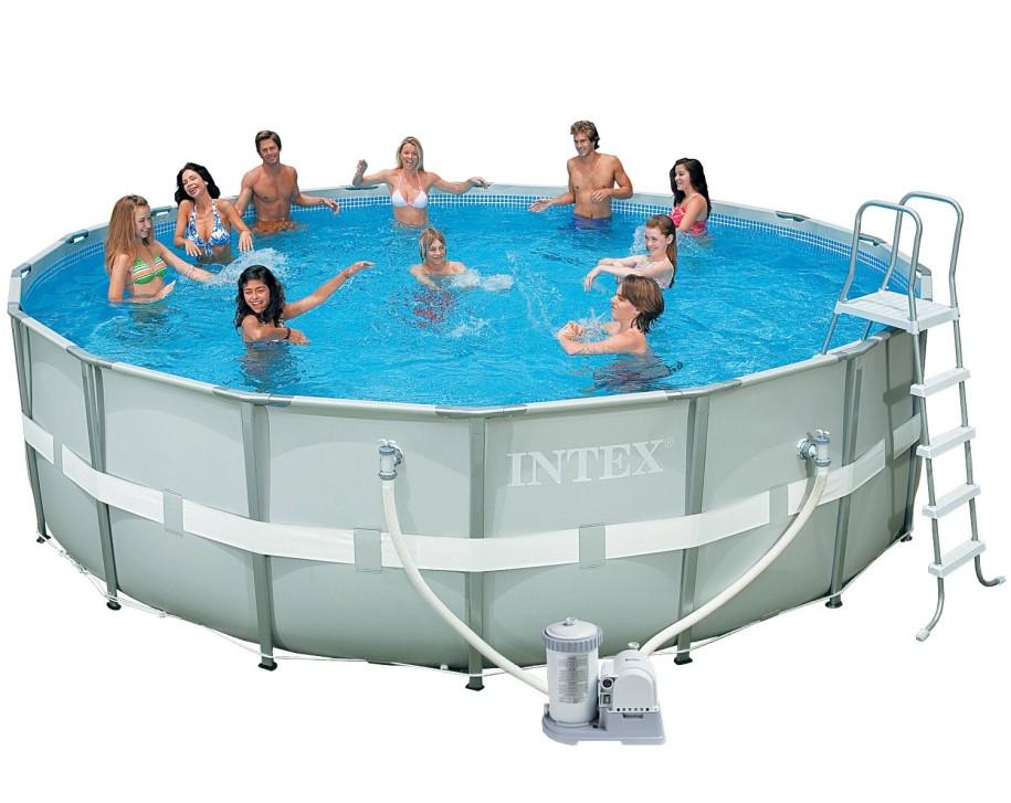intex ultra metal frame pool set 488x122 28322 gs ebay. Black Bedroom Furniture Sets. Home Design Ideas