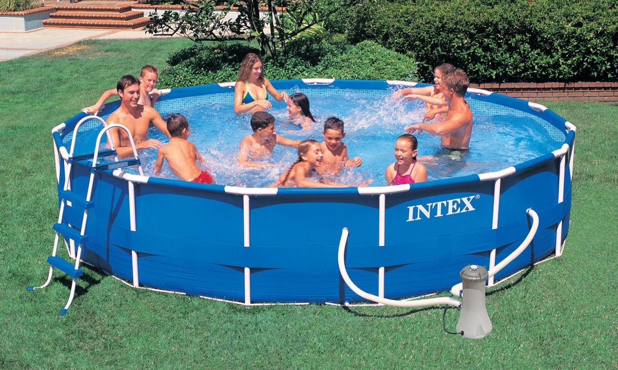 Intex Metal Frame Pool Komplett Set 457x84 ECO 28228 GS | eBay