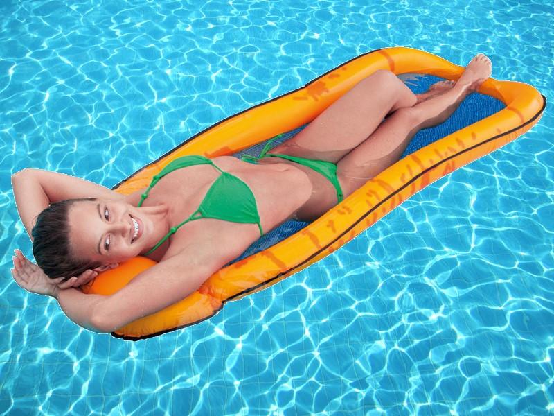 INTEX Mesh Lounge orange Wasserliege 58836EU
