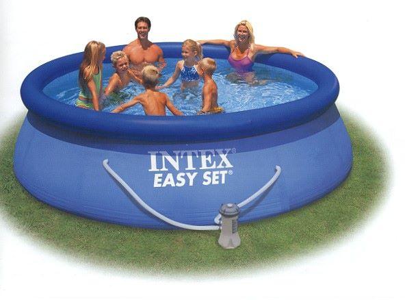 Intex swimming pool easy set 366x91cm 28146gs for Swimmingpool aufstellbecken