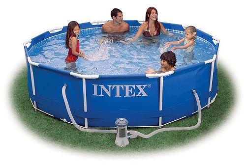 INTEX Swimming Pool Metal Frame 305x76cm + Pumpe 28202 GS