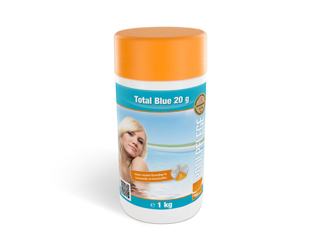 Einfache Komplett-Wasserpflege Total Blue 20 1kg